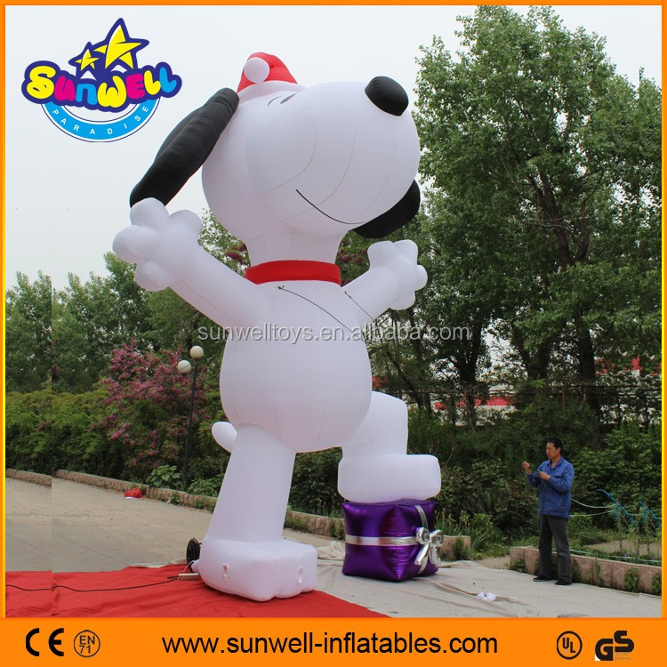 Hot Sale big inflatable snoopy balloon for exhibition,inflatable dog,giant snoopy inflatable for promotion or advertising
