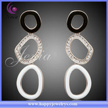 Fashion Jewelry Earring Cheap Price Crystal 18k Gold Plated Earring For Women Round Shaped Earrings(LE083)