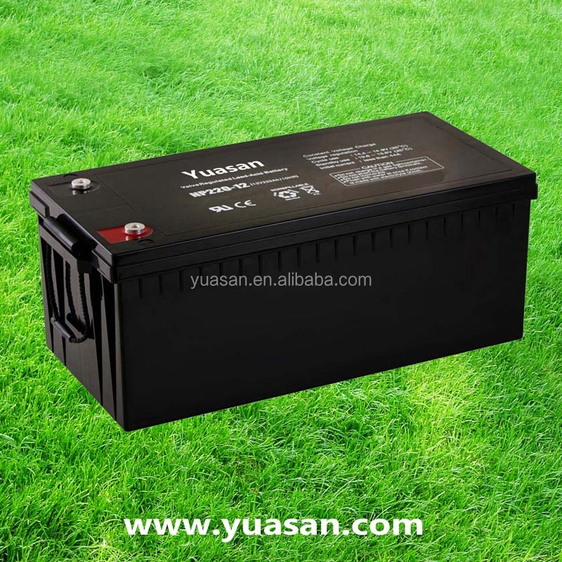 Yuasan Super AGM Battery Sealed 12V 220AH Lead Acid UPS Battery with Long Service Life -NP220-12