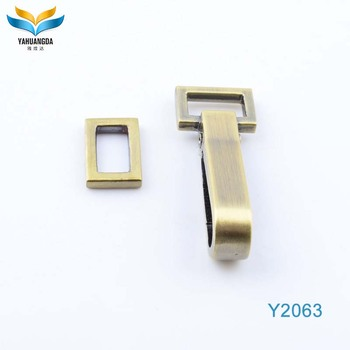 fashion flat xina alloy metal hook for handbag