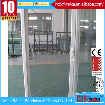 Energy saving double glass Plastic/Vinyl sliding residential doors with grilles,Plastic/Vinyl windows and doors