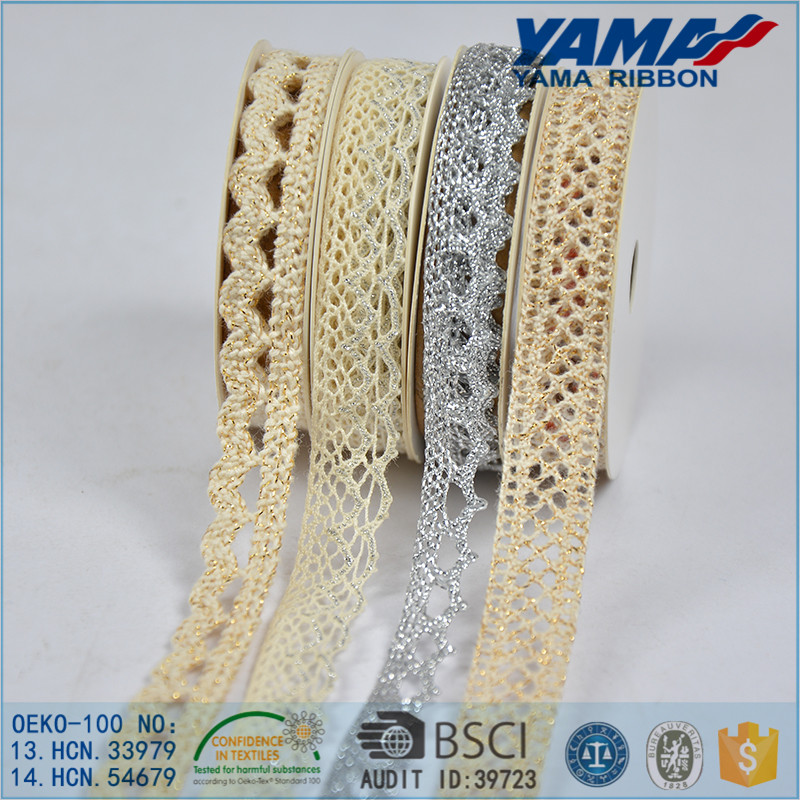 Factory wholesale 100% polyester indian lace embroidery trim