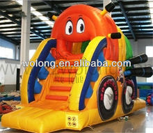 2013 Colorful Inflatable Slide Super Moto with Alrale for direct manufactures