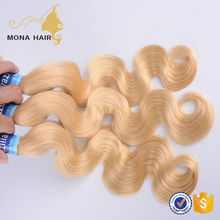 great quality soft body wave color #613 blonde human hair