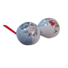 Wholesale metal Christmas gift tin ball for new year promotion