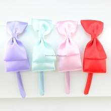 Wholesale Boutique Knot More Color Choice Eco-friendly Hair Bow Hair Band For Girls teenagers