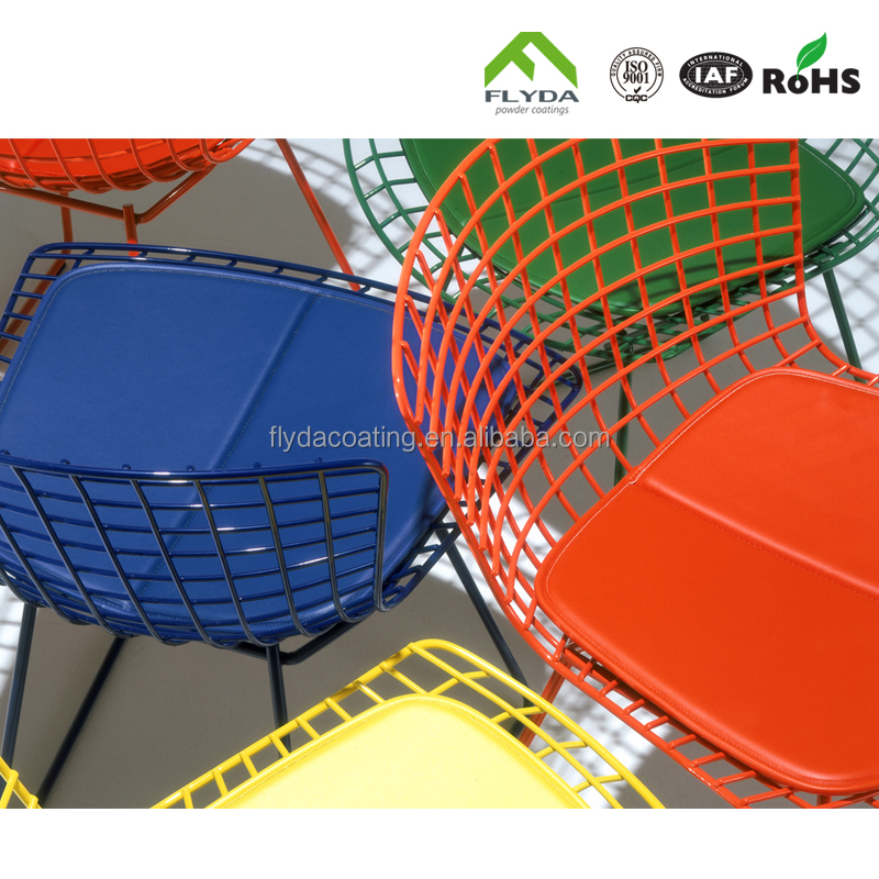 Red blue wrought iron table polyester powder coating paint