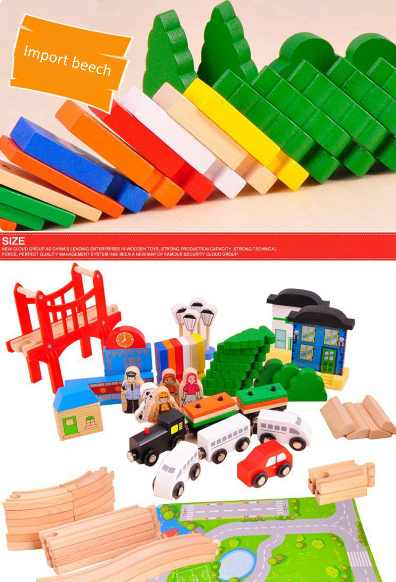 gift Train Set Wooden Railway 8 Types Available Wooden Train Track Pack Train Toys 3d puzz