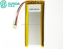 113993 3.7v 5200mah li-ion polymer battery