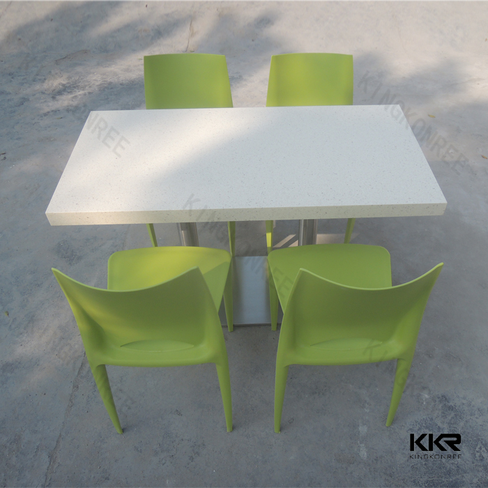 KKR OEM solid surface acrylic karachi furniture dining table