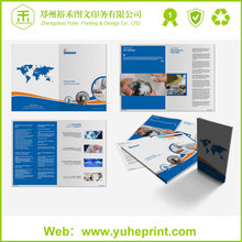 Industrial company advertising die cut flyers catalogue printing for zr target