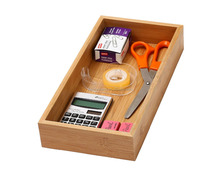 Eco-friendly Bamboo Drawer Organizer Bamboo Storage Serving Box Wholesale Small Wooden Drawer Storage Box