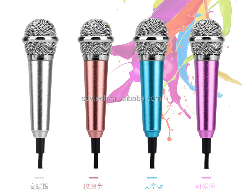 Hot Sale Colorful Mini Karaoke Mini Microphone For Smartphone