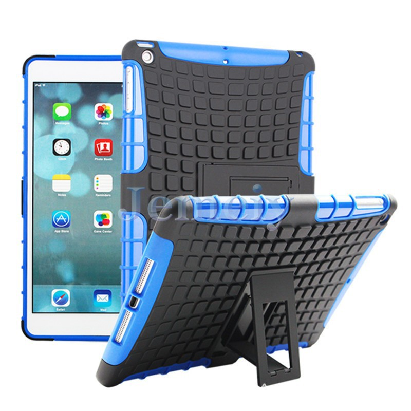 In Stock Shockproof Tablet Stand Case, TPU+PC Material Back Cover Case For iPad Compatible Brand For iPad Air For iPad5