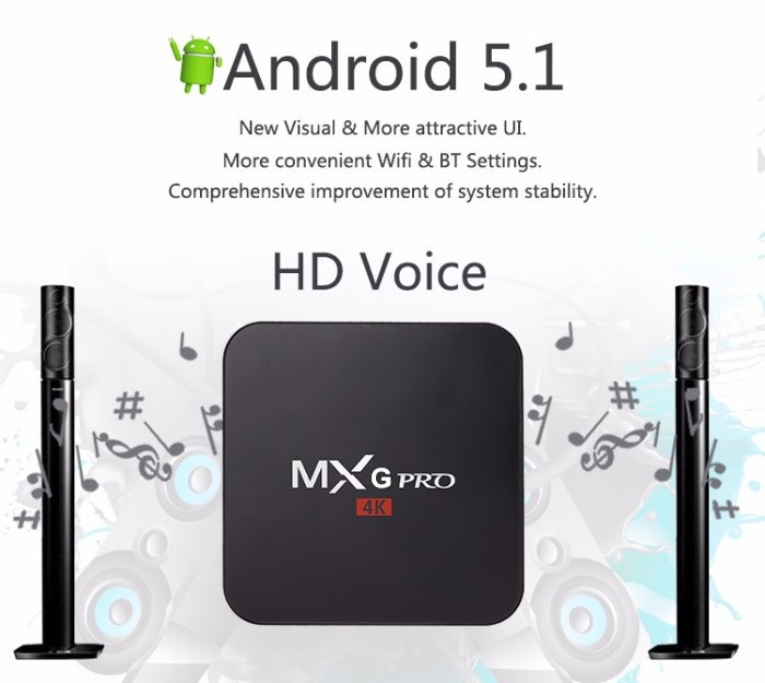 Original MXG pro 4K s905 quad core android 6.0 tv box rk3399 Support OEM/ODM android tv box