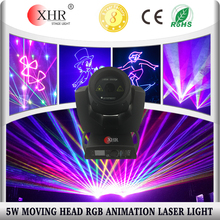 XHR new product 5 watts moving head lights,disco light price,club laser light.