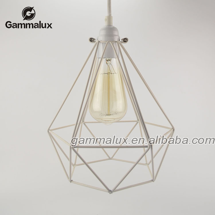 Manufacturer's Premium Metal Cage Industrial Light Iron Wire Pendant Lamp Edison Bulbs Vintage Style Lighting