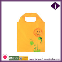 Cute Animals Flowers New Printing Convenient Foldable Large-capacity Storage Bag Tote Folding Green Shopping Bag