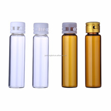 Clear thin glass bottle vial as cosmetic ampoule wholesale