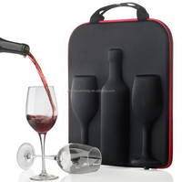 Wine Travel Carrier & Cooler Bag 2-bottle Wine Champagne Carrying Tote Picnic Cooler Insulated Travel Brown Case