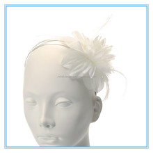 High Quality Flower Bridal Feather Fascinator Wholesale