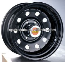 off-road chrome rims black spoke with good quality