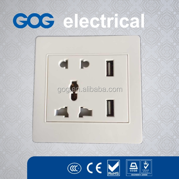 Dual USB Port Wall Socket Charger AC Power Adapter Outlet Plate Panel Receptacle