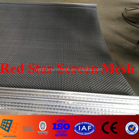abrasion resistance High Carbon Steel Crimped Mesh used in Vibrating Screen