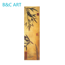 Modern wall arts bamboo oil painting for home decoration