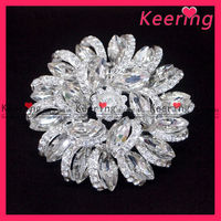 wholesale clear crystal stone flower magnetic brooch clips WBR-902