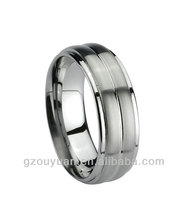 Tungsten Carbide Rings, 8mm Classic Brushed SurfaceTungsten Rings