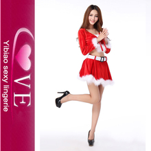 No MOQ Santa Girl Unique Christmas Suits Sexy Red Velvet Christmas Costume