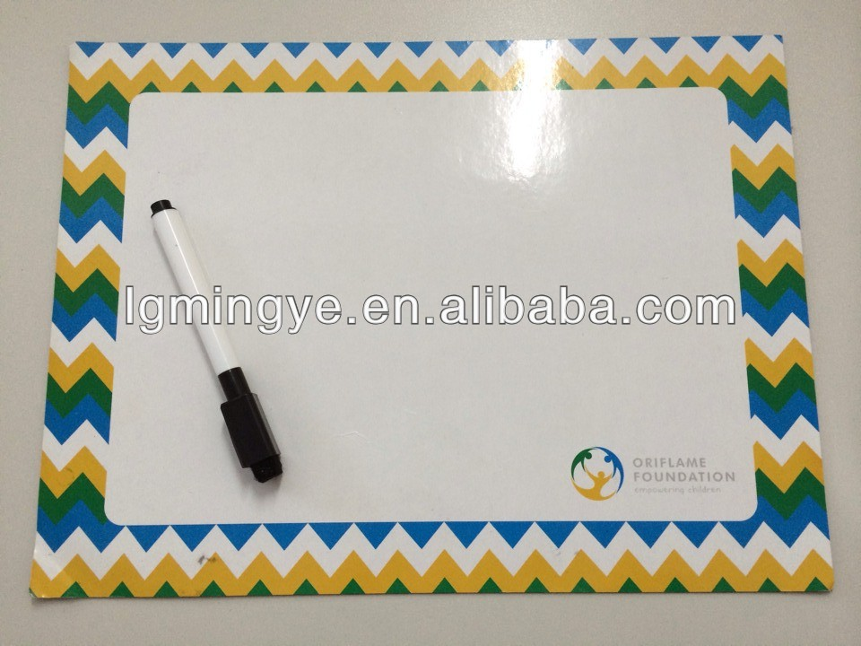 big size magnetic writing board with mark pen