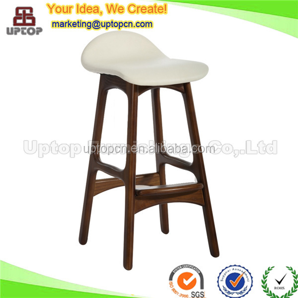 (SP-EC616) General used Simple style wood and leather high chair bar stool