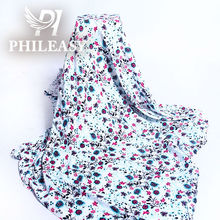 PHILEASY 2012 NEW STYLE rayon slub with spendex screen printed fabric