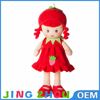 stuffed fruit dolls,lovely girl stuffed baby toy doll,cartoon character plush girl toys