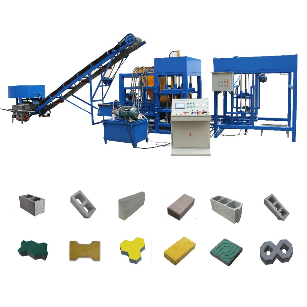 QT4-20 sand brick making machine paving block machine italy marble block moulding machinery