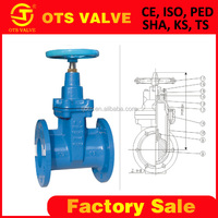 GV-SY-004 rising stem or non rising gate valve 4 inch from BV certificate factory