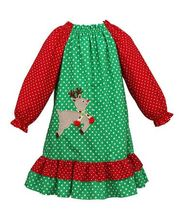 2017 hot sell fall winter organic cotton red and green elk polka dots christmas baby clothing set