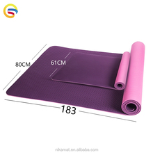 Custom Print Eco Yoga Mats Anti-Tear Exercise Mat China Factory Price, Double Size Laser Engraving Tpe Yoga Mat Manufacturer