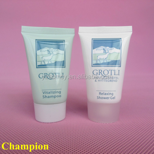 plastic packaging tubes for shampoo and shower gel