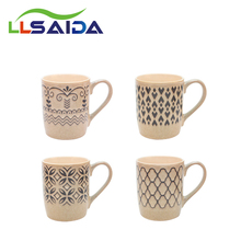 Glazed Customize Coffeee Cup 2017 New Arrival Style Wholesale Milk Mug Letter