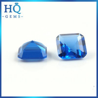Factory price glass gemstone square emerald cut gems for clothing decoration