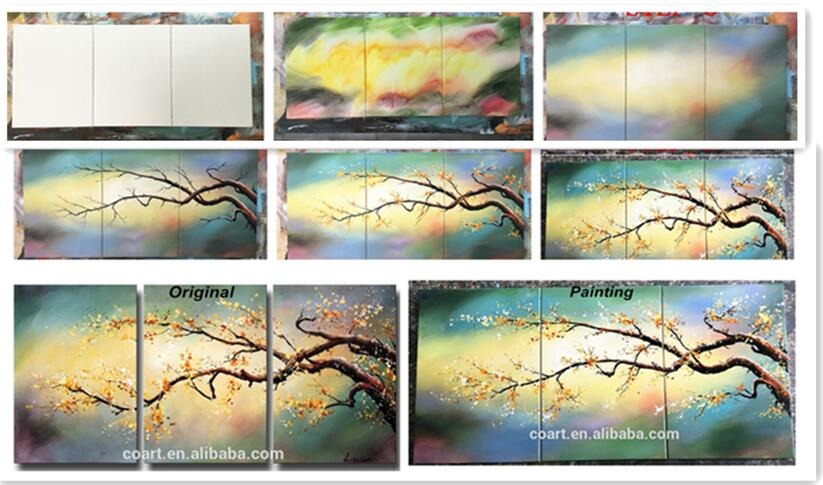Handmade Abstract Framde Wall Art Import Oil Painting
