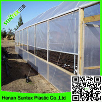 hdpe woven greenhouse film/plastic roof transparent cover/200micron greenhouse film