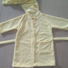 Wholesale Bathrobe Custom Baby Children Microfiber Terry Bathrobe