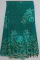 New arrival!Good quality guipure lace with stones/guipure lace fabric 2118-Teal Green
