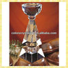 Luxurious Clear Crystal Trophy Cups For Professional Football League Of Gifts
