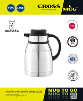 OD-1500VCD DOUBLE STAINLESS STEEL TEA POT COFFEE MUG WATER BOTTLE WITH PLASTIC LID AND HANDLE