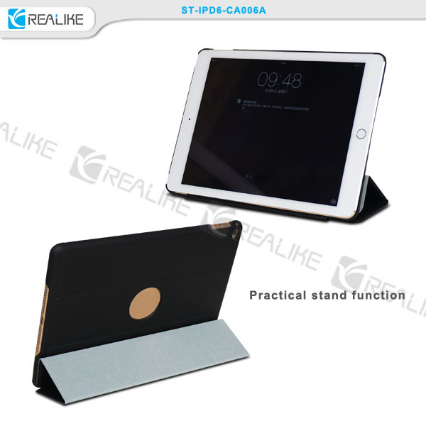 Foldable Thin PU Leather Stand Smart Cover Case For Ipad Air 2 , fold stand tablet case